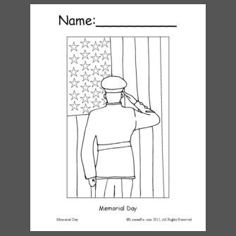 Memorial Day Coloring Book
