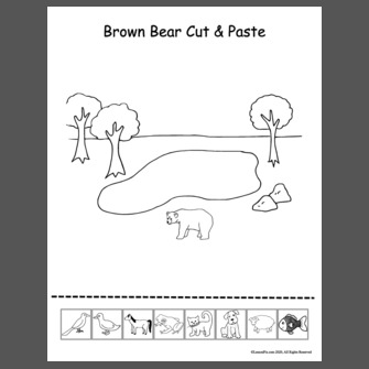 Brown Bear Cut & Paste