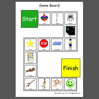 S Blends Game Board