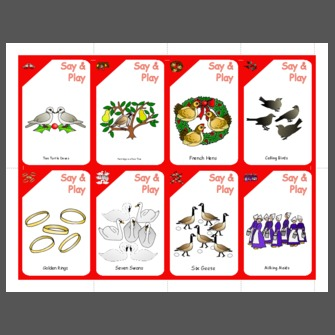 graphic about 12 Days of Christmas Printable named 12 Times of Xmas Participating in Playing cards