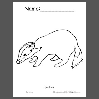 The Mitten - Coloring Sheets