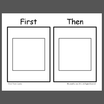 First+Then+Cards on Preschool Visual Schedule Printable