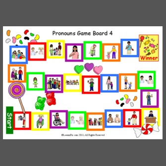 Pronouns Game Board 4