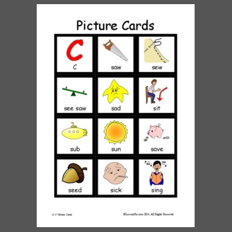s word initial one syllable picture cards