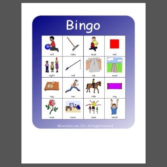 Bingo R Word Initial One Syllable