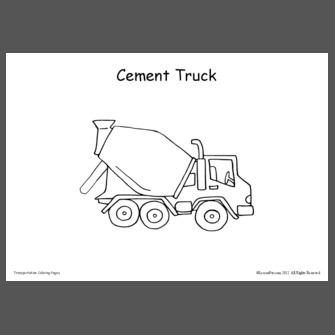 transportation coloring pages - Transportation Coloring Pages