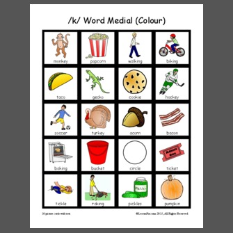 /k/ Word Medial (Colour)