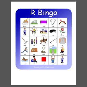 Initial R Cvc Bingo