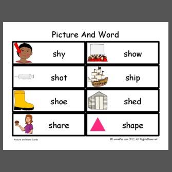 sh/ initial words