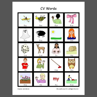 LessonPix  Cv Words