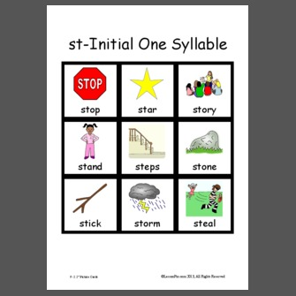 st initial one syllable