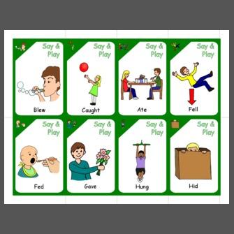 irregularpresent progressive verbs go fish cards