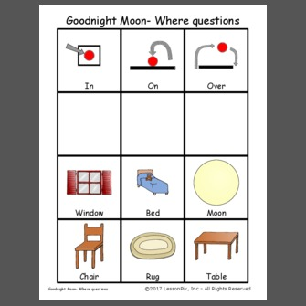 Goodnight Moon- Where questions
