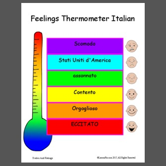 picture about Feelings Thermometer Printable called Emotions thermometer preschool