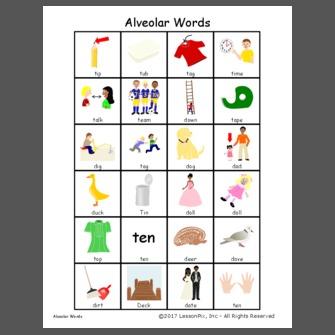 Alveolar Words