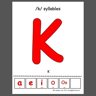 Letter Syllables