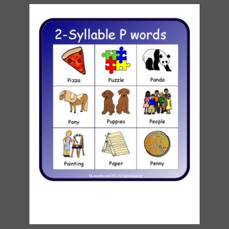 2 Syllable P Words