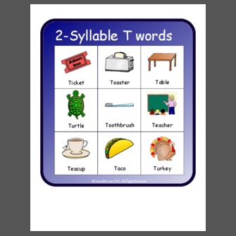 2 Syllable T Words