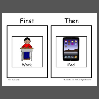 First Then Work iPad