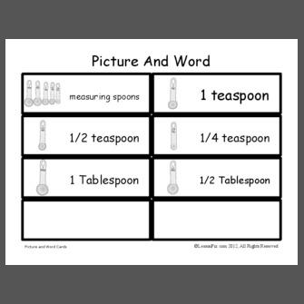 Lessonpix for 1 tablespoon vs teaspoon