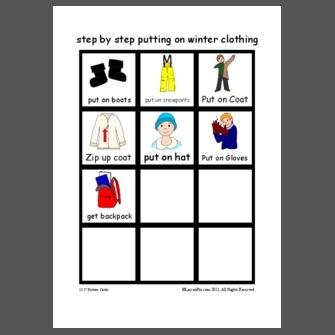step by step putting on winter clothing