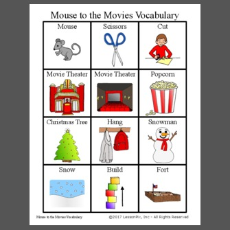 Mouse to the Movies Vocabulary