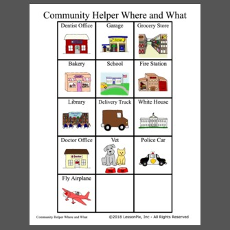 Community Helper Where and What