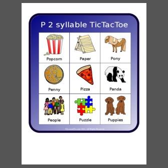 P 2 Syllable TicTacToe