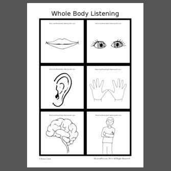 whole body listening coloring pages - photo#23