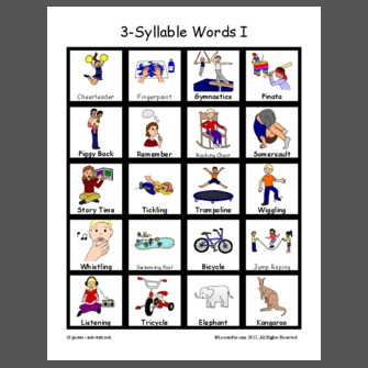3 Syllable Word List on Growing Readers Kindergarten Sight Word