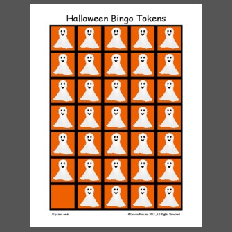 Halloween Bingo Tokens