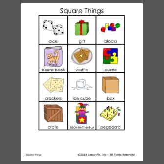 Square things - Div display block ...