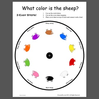 What color is the sheep?