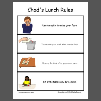 School Lunch Clipart Lunch Rules At School