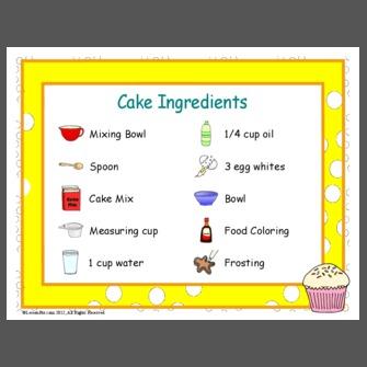White Cake Ingredients List