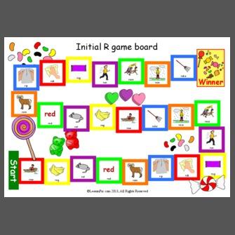 Initial R Game Board