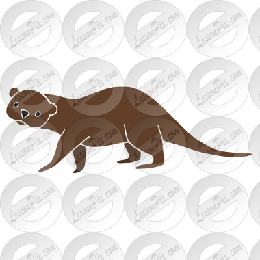 Otter Stencil for Classroom / Therapy Use - Great Otter Clipart