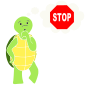Stop to Think Turtle Stencil