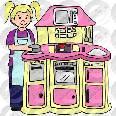 Play Kitchen Picture For Classroom Therapy Use