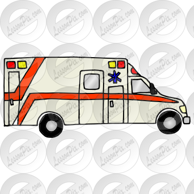 Ambulance Picture for Classroom / Therapy Use - Great Ambulance ... | {Ambulance clipart 66}