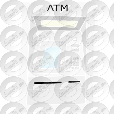 ATM Stencil for Classroom / Therapy Use - Great ATM Clipart