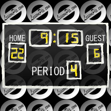 scoreboard stencil for classroom therapy use great scoreboard rh lessonpix com scores clipart basketball scoreboard clipart