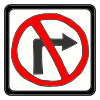 no right turn Picture