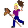 The+girl+is+galloping+on+the+horse. Picture