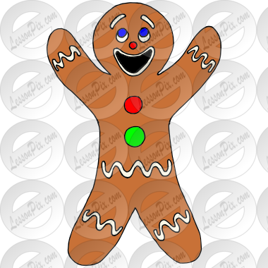 Happy gingerbread man picture for classroom therapy use great happy gingerbread man picture voltagebd Image collections