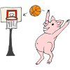 Pig Playing Basketball Picture