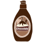 Chocolate Syrup Stencil
