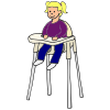 toddler in high chair Picture