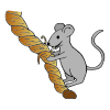 Mouse Nibbling Rope Picture