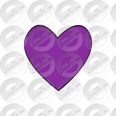 Clip Art Purple Heart Clip Art purple heart picture for classroom therapy use great picture